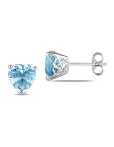 Concerto 4 TCW Blue Topaz Heart Stud Earrings-BLUE TOPAZ-One Size