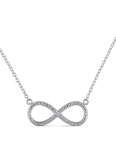 Concerto Sterling Silver 0.015 TCW Diamond Infinity Necklace-DIAMOND-One Size
