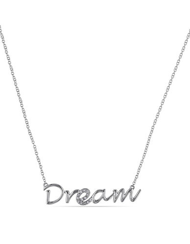 Concerto Sterling Silver 0.07 TCW Diamond Dream Necklace-DIAMOND-One Size
