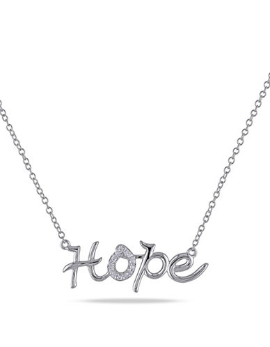Concerto Sterling Silver 0.07 TCW Diamond Hope Necklace-DIAMOND-One Size