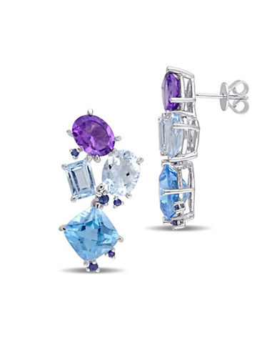 Catherine Malandrino Gemstone Cluster Drop Earrings-MULTI-One Size