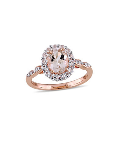 Concerto 0.05 TCW Diamond-Accent Vintage 14K Rose Gold Ring-PINK-6