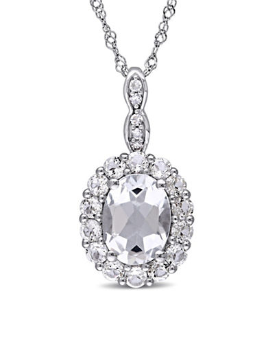 Concerto Diamond 14K White Gold Vintage Necklace-WHITE-One Size