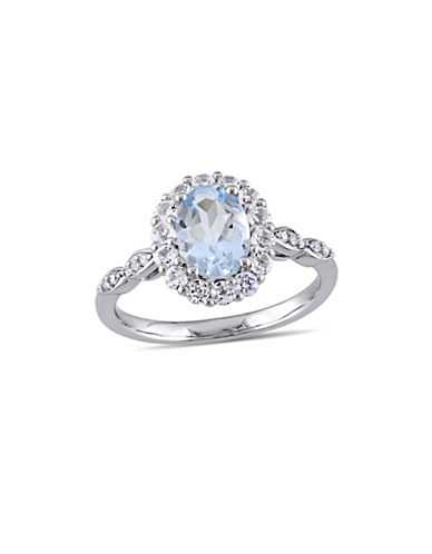 Concerto Diamond-Accent Vintage 14K White Gold Ring-BLUE-7