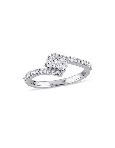 Concerto 0.5 TCW Diamond and 14K White Gold Bypass Ring-DIAMOND-7