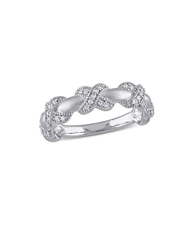 Concerto 14K White Gold X Trim Ring-DIAMOND-7