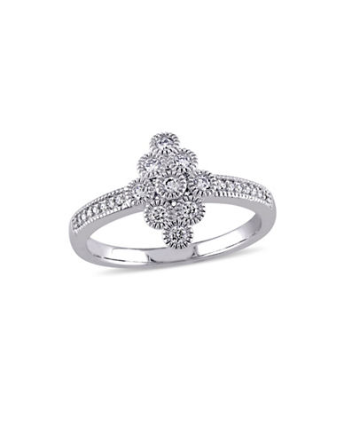 Concerto 14K White Gold Circle Ring-DIAMOND-9