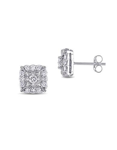 Concerto 0.73 TCW Diamond 14K White Gold Stud Earrings-DIAMOND-One Size