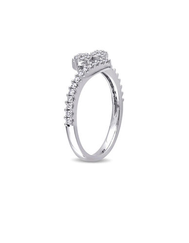 Concerto 14K White Gold Cluster Bypass Ring-DIAMOND-9