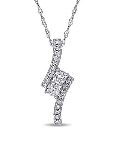 Concerto 0.5 TCW Diamond and 14K White Gold Pendant Necklace-DIAMOND-One Size