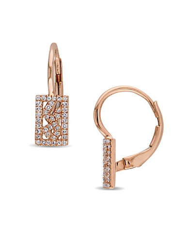 Concerto 0.18 TCW Diamond Vintage 14K Rose Gold Earrings-DIAMOND-One Size