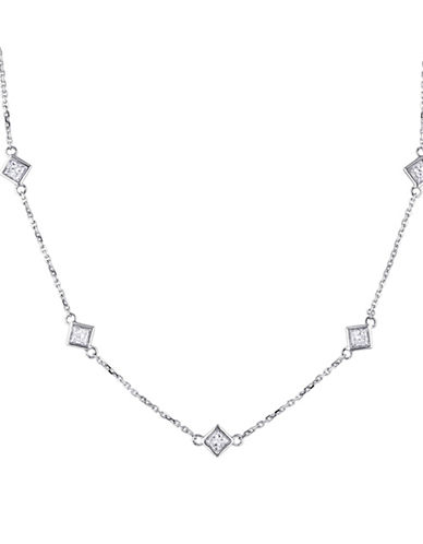 Concerto 14K White Gold and 0.84TCW Diamond Station Necklace-WHITE-One Size