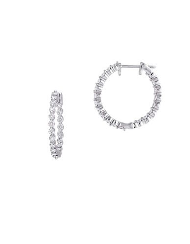 Concerto 14K White Gold and 1.20TCW Diamond Hoop Earrings-WHITE-One Size