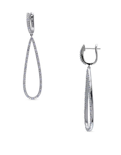 Concerto 14K White Gold and 0.25TCW Diamond Geometric Drop Earrings-WHITE-One Size