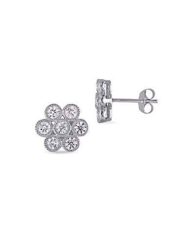Concerto 14K White Gold and 1TCW Diamond Flower Stud Earrings-WHITE-One Size