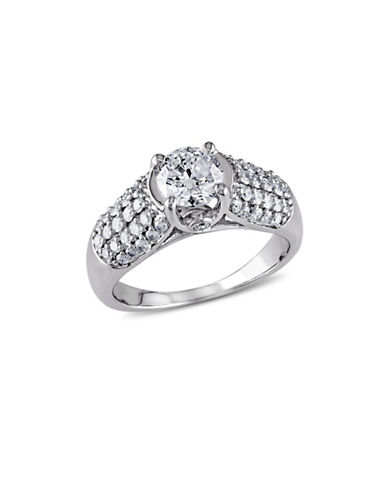 Concerto Round-Cut Diamond 14K White Gold Engagement Ring-WHITE-7
