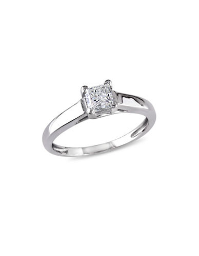 Concerto Princess-Cut Diamond 14K White Gold Solitaire Ring-WHITE-5