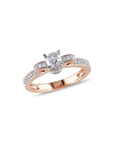 Concerto 14K Rose-Gold Scroll Detail 0.5tcw Diamond Ring-DIAMOND-8
