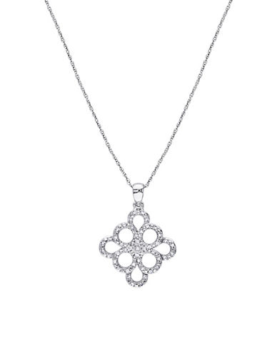 Concerto 0.20 TCW Diamonds and 10K White Gold Pendant necklace-WHITE GOLD-One Size