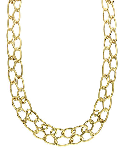Catherine Malandrino 18K Goldplated Double Row Link Choker-GOLD-One Size