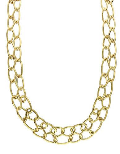 Catherine Malandrino 18K Goldplated Double Row Link Choker-GOLD-One Size