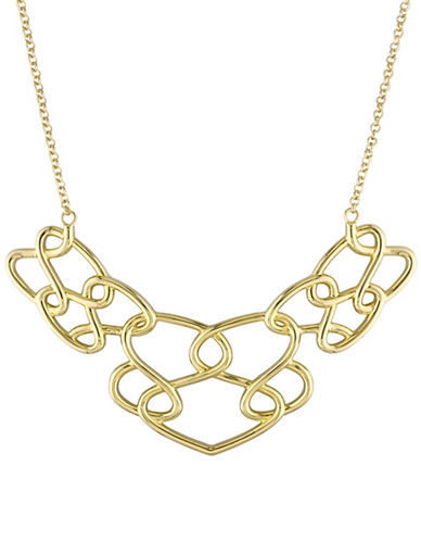 Catherine Malandrino 18K Goldplated Interlaced Necklace-GOLD-One Size