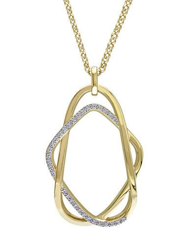 Catherine Malandrino 18K Goldplated and 0.20 TCW Diamonds Interlace Necklace-GOLD-One Size
