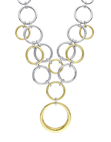 Catherine Malandrino 18K Goldplated and Sterling Silver Circle Linked Cluster Drop Necklace-MULTI-One Size