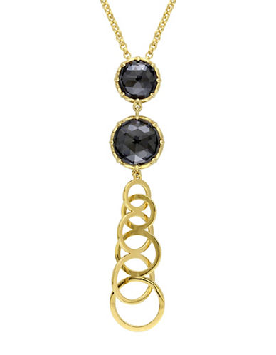 Catherine Malandrino 18K Goldplated Hematite Tiered Necklace-BLACK-One Size