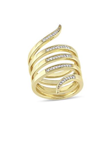 Catherine Malandrino 18K Goldplated and 0.20 TCW Diamonds Wrap Ring-GOLD-7