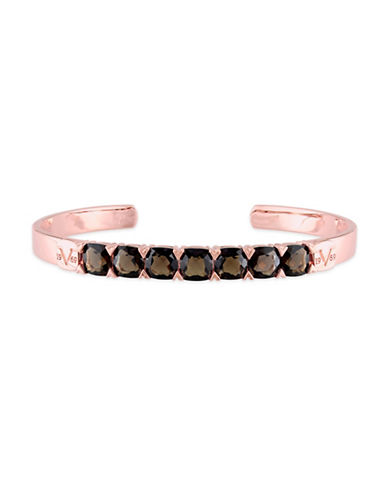 V19.69 Italia Smokey Quartz Rose Goldplated Bangle Bracelet-BROWN-One Size