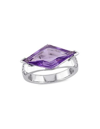 V19.69 Italia Sterling Silver Amethyst and Sapphire Ring-PURPLE-8 88936379_PURPLE_8
