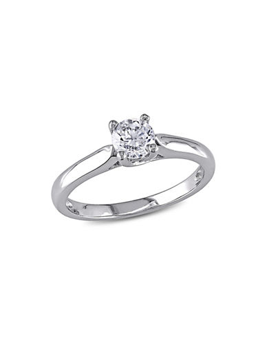 Concerto 14K White Gold 0.5tcw Diamond Solitaire Ring-WHITE GOLD-8