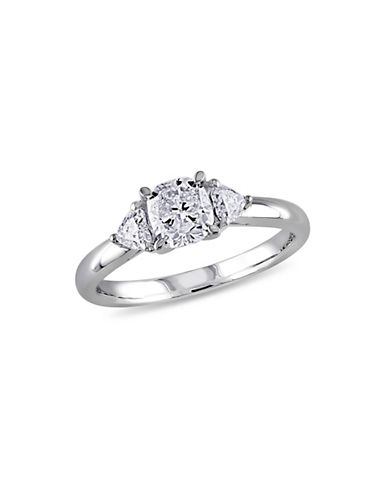 Concerto 1TCW Diamond Three-Stone Engagement Ring in 14k White Gold-WHITE-9