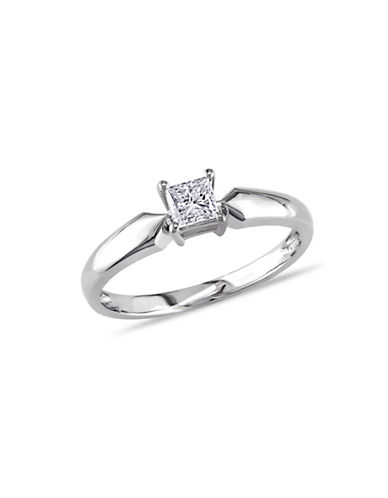Concerto 14K White Gold  0.5 tcw Diamond Solitaire Ring-WHITE GOLD-5