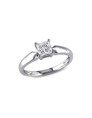 Concerto 14K White Gold 0.75 tcw Diamond Princess Cut Ring-WHITE GOLD-9