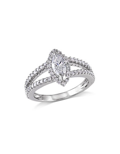Concerto 14K White Gold  Marquise 0.84 tcw Diamond Ring-WHITE GOLD-8