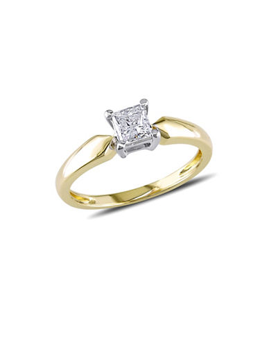 Concerto 14K Yellow Gold 0.5 tcw Diamond Princess Cut Ring-GOLD-9