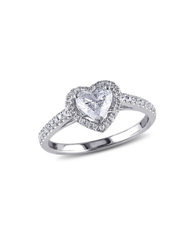 Concerto 1TCW Diamond Halo Heart Engagement Ring in 14k White Gold-WHITE GOLD-5