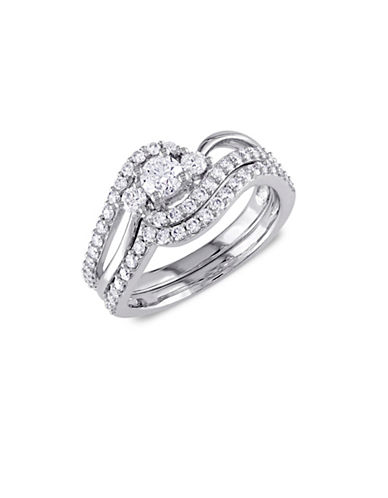 Concerto 1TCW Diamond Crossover Three-Stone Bridal Set in 14k White Gold-WHITE-6