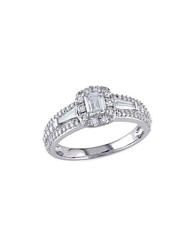Concerto 1TCW Multi-Shape Diamond Halo Engagement Ring in 14k White Gold-WHITE-7