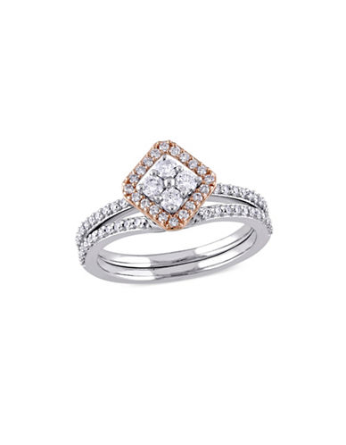 Concerto 0.60TCW Diamond Halo Vintage Bridal Set in 14k Two-Tone Gold-WHITE-7