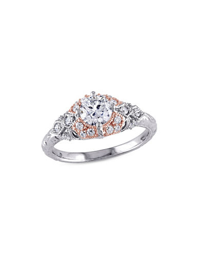 Concerto 1TCW Diamond Vintage Engagement Ring in 14k Two-Tone Gold-WHITE-9