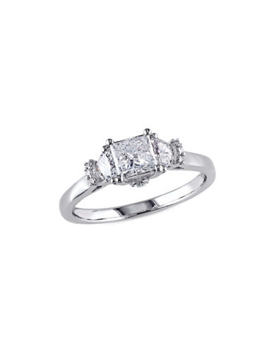 Concerto Bridal 1 TCW Diamonds and 14K White Gold Engagement Ring-WHITE GOLD-9