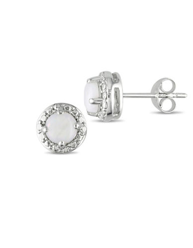 Concerto Opal Stud Earrings-WHITE-One Size