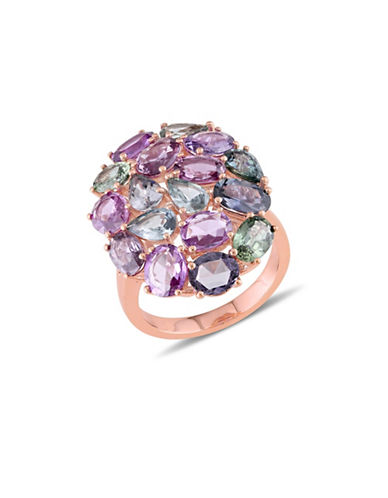 Concerto Multi-Colour Sapphire and 14K Rose Gold Cocktail Ring-MULTI-6
