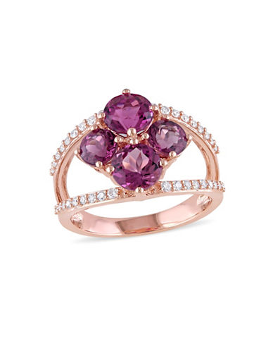Concerto 0.25 TCW Diamond, Pink Tourmaline and 14K Rose Gold Ring-PINK-7