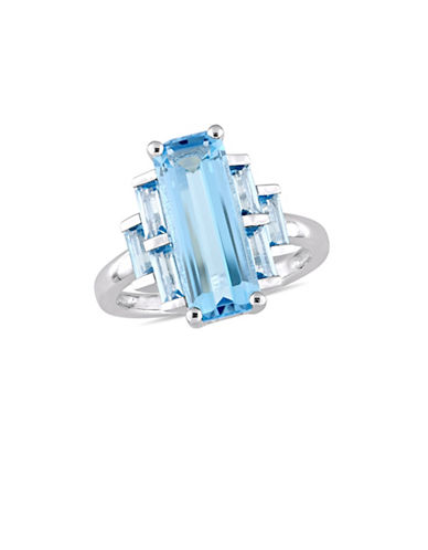 Concerto Sterling Silver and Swiss Blue Topaz Solitaire Ring-BLUE-9