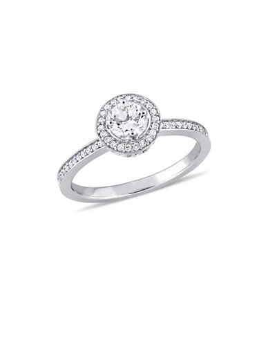 Concerto 0.5 TCW Diamond Halo Engagement Ring in 14K White Gold-WHITE-6