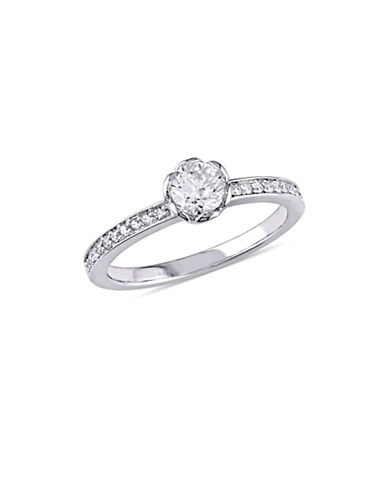 Concerto Diamond Bridal 14K White Gold and 0.5 TCW Diamond Floral Engagement Ring-WHITE-6
